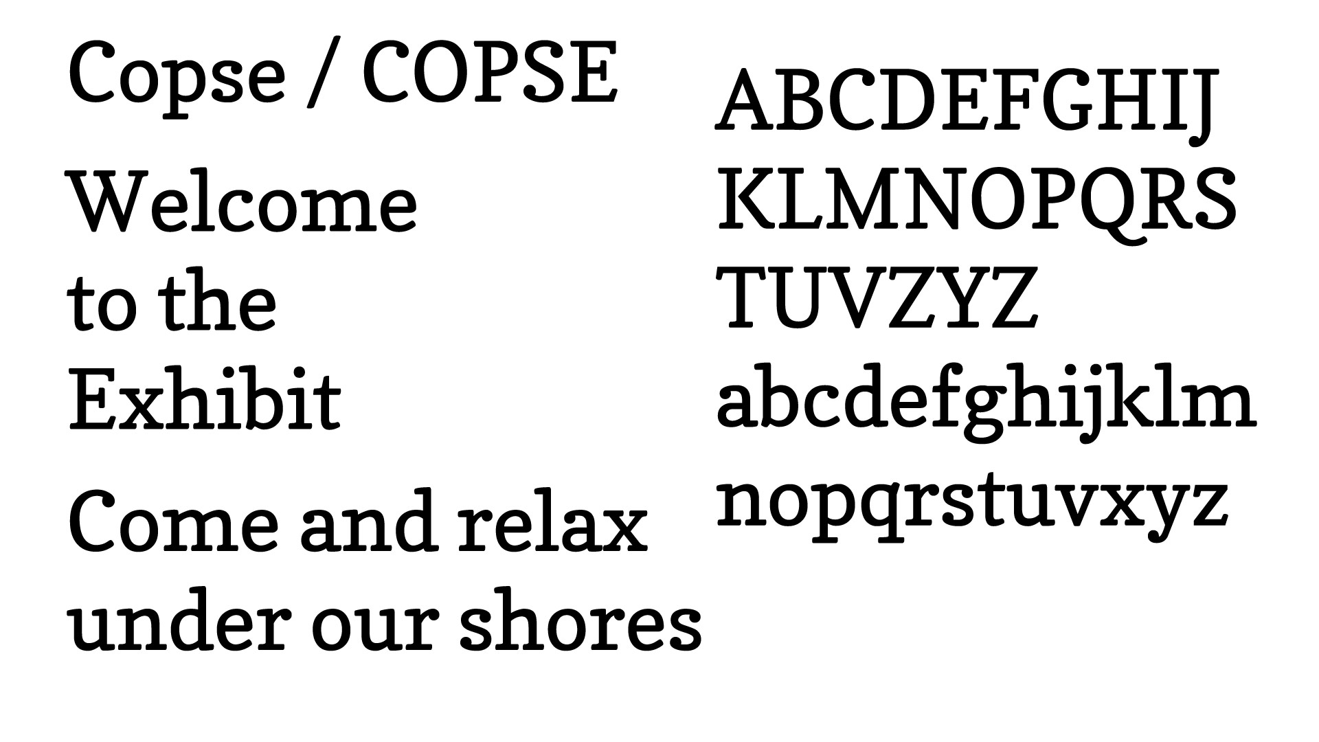 Slab Serif: COPSE