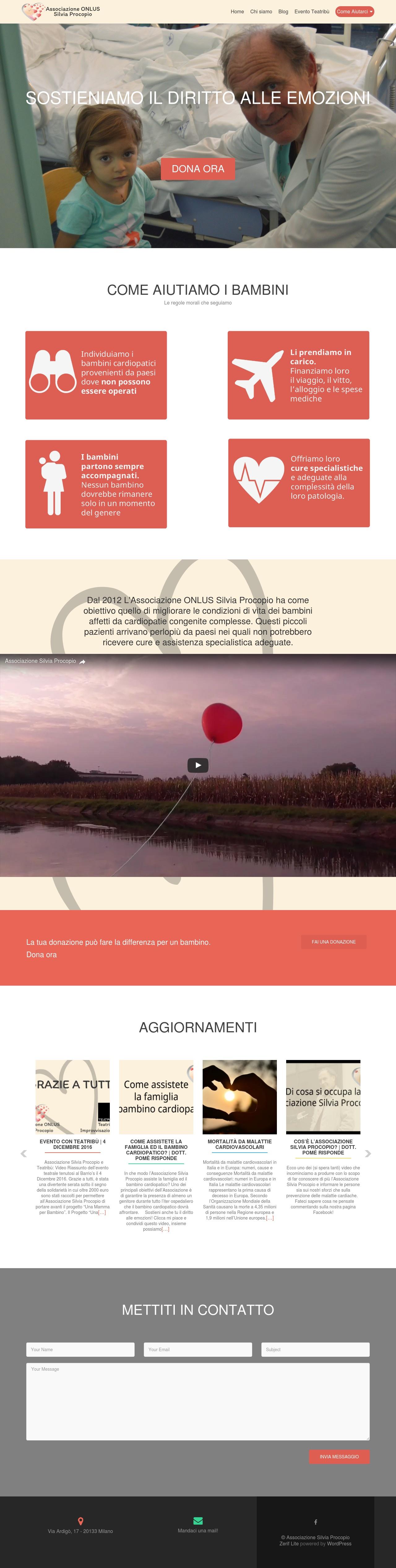 Associazione Silvia Procopio, New Website